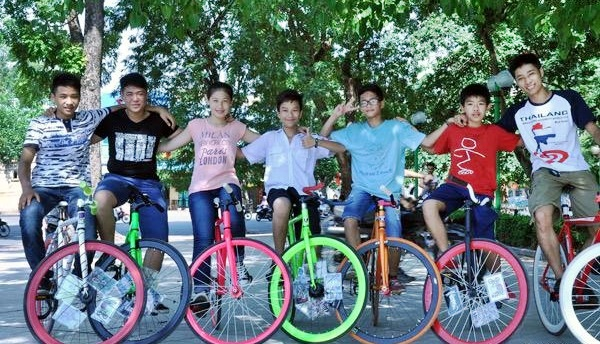 xe dap fixed gear ha noi