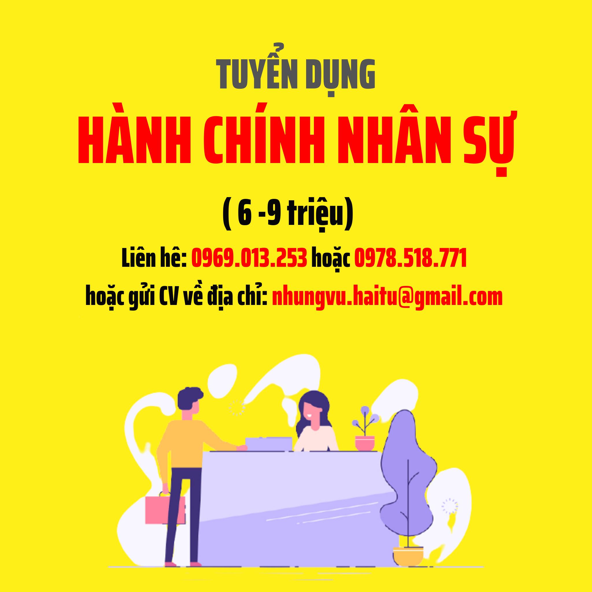 TUYEN DUNG VI TRI HANH CHINH NHAN SU